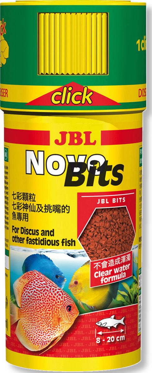 JBL NovoBits (CLICK) Корм в форме гранул для дискусов и других привередливых тропических рыб, в банке с дозатором, 250 мл (110 г)JBL3031340JBL NovoBits (CLICK) - Корм в форме гранул для дискусов и других привередливых тропических рыб, в банке с дозатором, 250 мл (110 г)