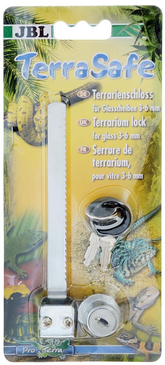 Замок для стекол террариума JBL TerraSafeJBL6151600Замок JBL TerraSafe, выполненный из металла, предназначен для любых стекол террариумов с толщиной до 8 мм. В комплект входят 2 ключа. С таким замком ваш питомец не выберется из террариума.