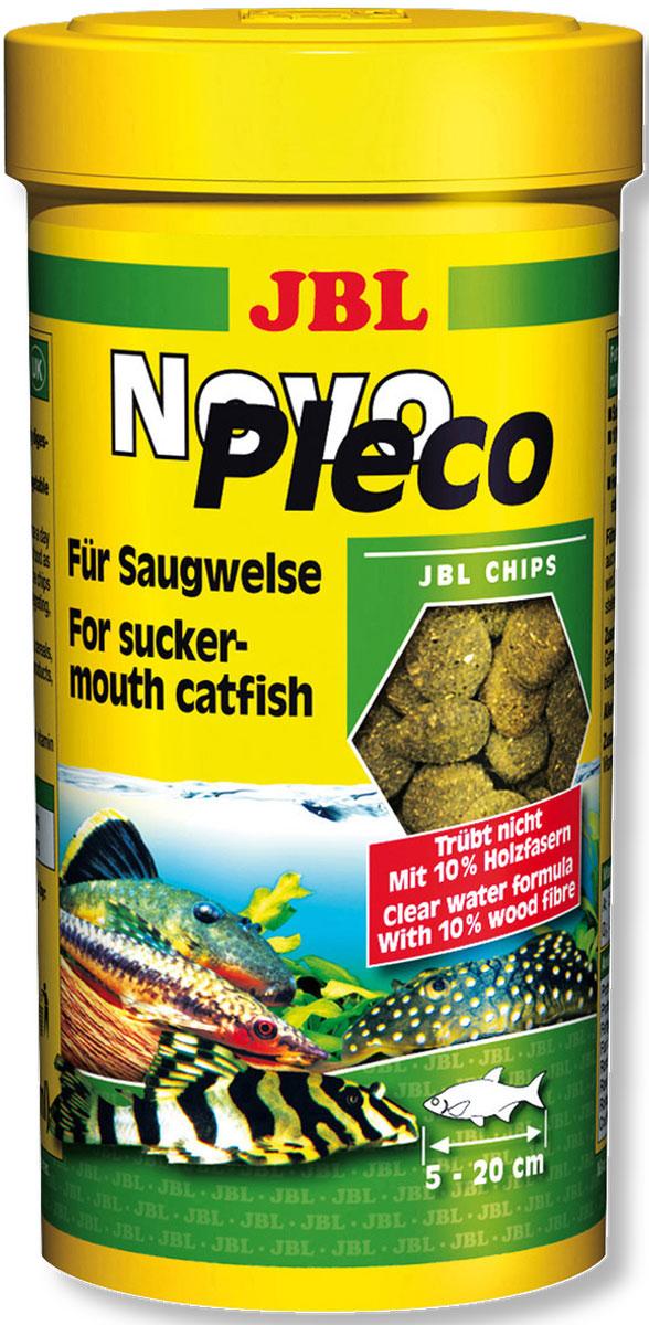 JBL NovoPleco Водорослевые чипсы с примесью целлюлозы для кольчужных сомов, 250 мл (125 г)JBL3031100JBL NovoPleco - Водорослевые чипсы с примесью целлюлозы для кольчужных сомов, 250 мл. (125 г.)