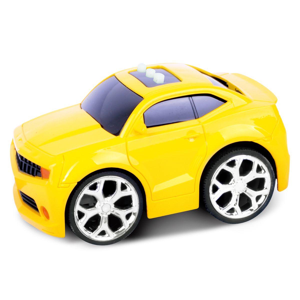 Blue Sea Машинка интерактивная цвет желтый5588-84BОригинальный дизайн 3 интерактивные функции (звук запуска двигателя, включение музыки, движение вперед) Требуется докупить элементы питания