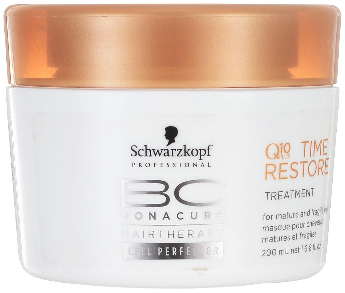 Bonacure BC Маска для волос Time Restore. Q10 Plus, возрождающая, 200 мл099-1800721/238Маска для волос Schwarzkopf & Henkel Time Restore. Q10 Plus - глубоко проникающая, интенсивная и роскошная крем-маска. Насыщает зрелые и хрупкие волосы, заряжает их большей силой, чтобы бороться с признаками старения. Гарантирует волосам мягкость, прочность и здоровье. Вялые волосы наполняются блеском и сиянием. Применение : нанесите маску на чистые, подсушенные волосы полотенцем по всей длине волос. Выдержите 5-10 минут, затем смойте.