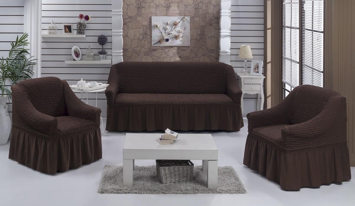 Набор чехлов для дивана Karna «Bulsan», 5 шт. 1717/CHAR005  фирма пуфики