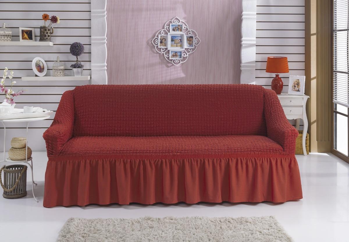Чехол для дивана Burumcuk Bulsan, трехместный, цвет: красный1796/CHAR008Трехместный чехол для дивана Burumcuk выполнен из высококачественного полиэстера и хлопка с красивым рельефом. Такой чехол изысканно дополнит интерьер вашего дома. Ширина посадочных мест: 210-260 см. Глубина посадочных мест: 70-80 см. Высота спинки от посадочного места: 70-80 см. Ширина подлокотников: 25-35 см. Высота юбки: 35 см.