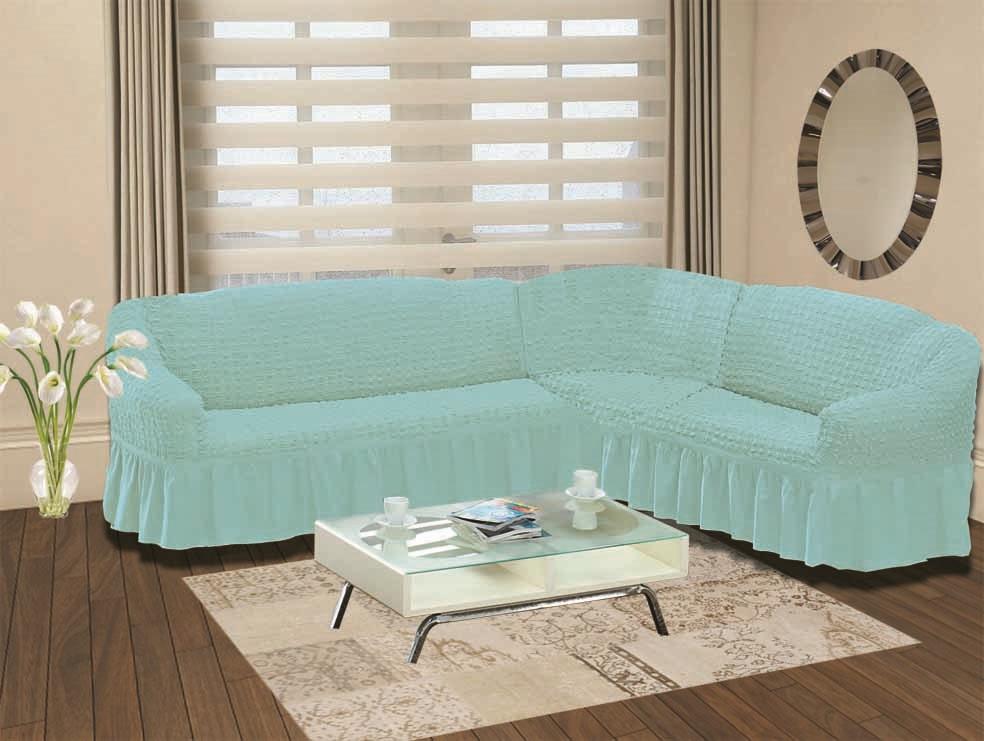 Чехол для дивана Burumcuk Bulsan, угловой, левосторонний, пятиместный, цвет: голубой1907/CHAR014Чехол для дивана Burumcuk выполнен из высококачественного полиэстера и хлопка с красивым рельефом. Предназначен для углового дивана. Такой чехол изысканно дополнит интерьер вашего дома. Ширина посадочных мест короткой стороны: 140-190 см. Ширина посадочных мест длинной стороны: 210-260 см. Глубина посадочных мест: 70-80 см. Высота спинки от посадочного места: 70-80 см. Ширина подлокотников: 25-35 см. Высота юбки: 35 см. Тянется: + 30 см.