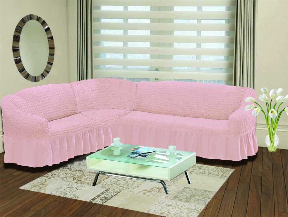 Чехол для дивана Burumcuk Bulsan, угловой, левосторонний, пятиместный, цвет: розовый1907/CHAR017Чехол для дивана Burumcuk выполнен из высококачественного полиэстера и хлопка с красивым рельефом. Предназначен для углового дивана. Такой чехол изысканно дополнит интерьер вашего дома. Ширина посадочных мест короткой стороны: 140-190 см. Ширина посадочных мест длинной стороны: 210-260 см. Глубина посадочных мест: 70-80 см. Высота спинки от посадочного места: 70-80 см. Ширина подлокотников: 25-35 см. Высота юбки: 35 см. Тянется: + 30 см.