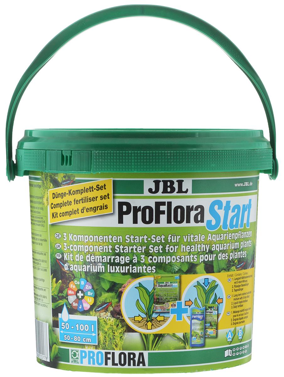 Комплекс удобрений для аквариумных растений JBL ProfloraStart Set, для аквариумов до 80 л.JBL2021700Комплекс удобрений для аквариумных растений JBL ProfloraStart Set содержит: - JBL AquaBasis plus (готовая смесь питательных элементов), - JBL Ferropol (жидкое базисное удобрение), - JBL Ferropol 24 (ежедневное удобрение). JBL ProfloraStart Set содержит три основные компонента для успешного ухода за зелёными насаждениями в аквариуме. 1. JBL AquaBasis plus - истинный базис для корней растений. Средство способствует оптимальному росту всех аквариумных растений. Оно равномерно снабжает растения микроэлементами, обеспечивает корни железом. Применение: рассыпать средство в аквариуме, создав самый нижний слой толщиной 2 - 4 см и покрыть слоем (2 - 4 см) вымытого аквариумного гравия. Аквариум осторожно наполнить водой на 70%, проследив, чтобы грунт не завихрялся. 2. JBL Ferropol – базисное удобрение для растений, потребляемое через листья. Содержит все основные питательные вещества и микроэлементы, которые...