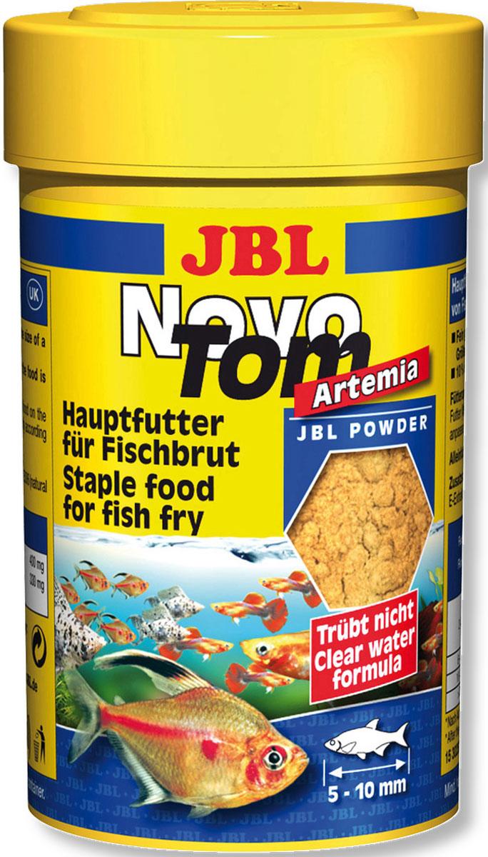 JBL NovoTom Artemia Пылевидный корм для мальков с артемией, 100 мл (60 г)JBL3025300JBL NovoTom Artemia - Пылевидный корм для мальков с артемией, 100 мл. (60 г.)