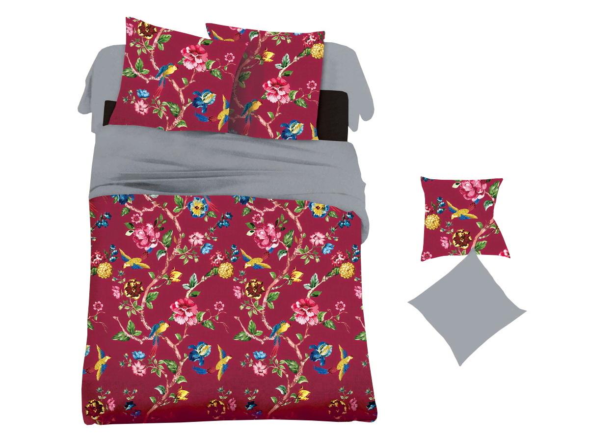 Комплект белья Cleo Карминовое цветение, 2-спальный, наволочки 70х7020/025-PLКоллекция постельного белья из микросатина CLEO – совершенство экономии, но не на качестве! Благодаря новейшим технологиям микросатин – это прочность, легкость, простота в уходе, всегда яркие цвета после стирки. Микро-сатин набирает все большую популярность, благодаря своим уникальным характеристикам. Окраска материала - стойкая, цветовая палитра - яркая, насыщенная. Микро-сатин хорошо впитывает влагу, а после стирки быстро сохнет, становясь шелковистым на ощупь, мягким и воздушным. Комплект состоит из пододеяльника, двух наволочек и простыни.