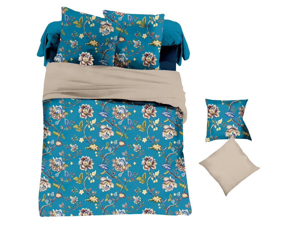 Комплект белья Cleo Ультрамариновый букет, 2-спальный, наволочки 70х7020/039-PLКоллекция постельного белья из микросатина CLEO – совершенство экономии, но не на качестве! Благодаря новейшим технологиям микросатин – это прочность, легкость, простота в уходе, всегда яркие цвета после стирки. Микро-сатин набирает все большую популярность, благодаря своим уникальным характеристикам. Окраска материала - стойкая, цветовая палитра - яркая, насыщенная. Микро-сатин хорошо впитывает влагу, а после стирки быстро сохнет, становясь шелковистым на ощупь, мягким и воздушным. Комплект состоит из пододеяльника, двух наволочек и простыни.