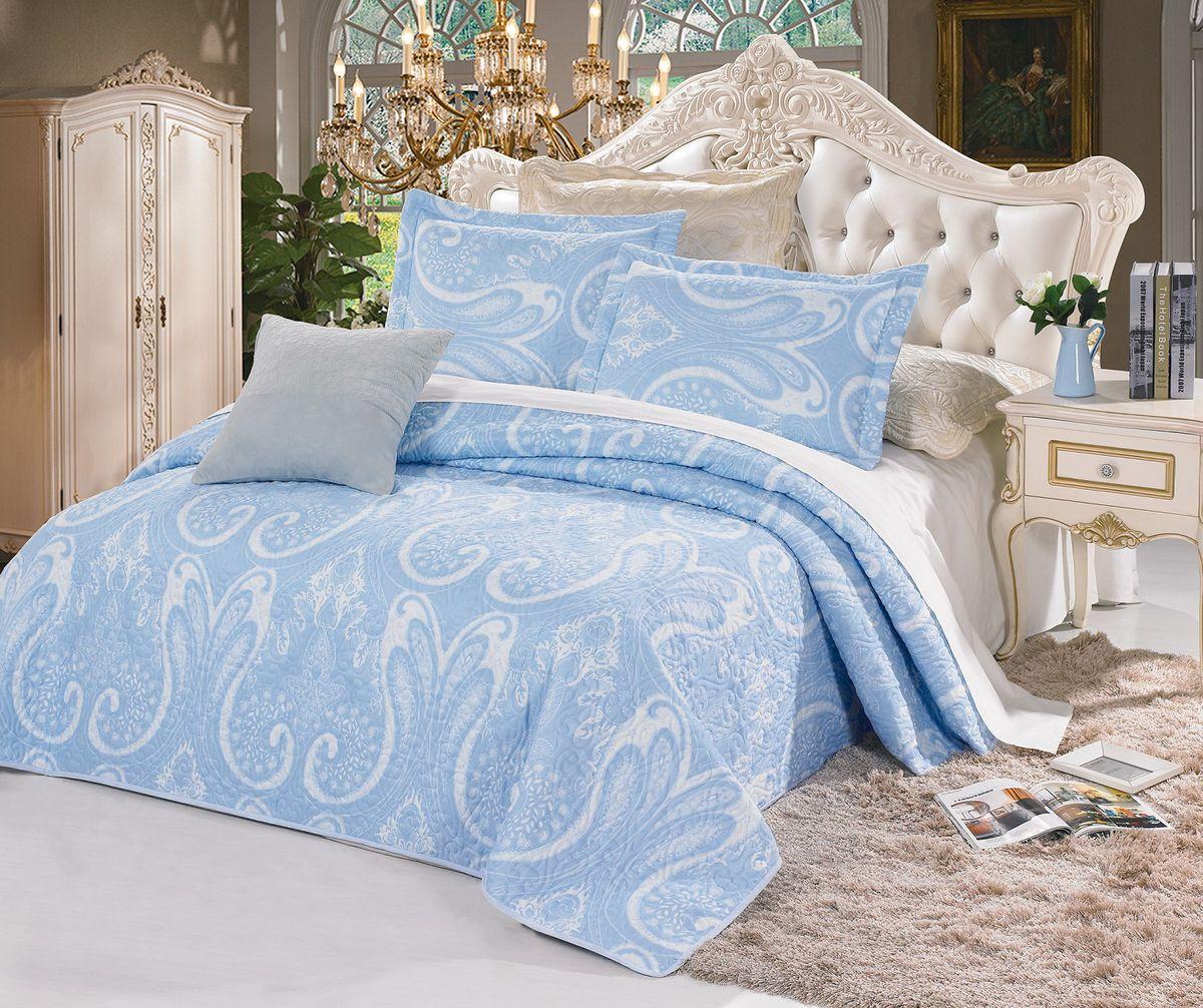 Комплект для спальни Cleo Авеню: покрывало 230 х 250 см, 2 наволочки 50 х 70 см, цвет: голубой271/021-BTКомплект для спальни Cleo Авеню состоит из покрывала и двух наволочек. В коллекции используется самый износостойкий материал - полиэстер. Он выдерживает многократные стирки, сохраняет форму и цвет, не изнашивается. Ваша спальня будет всегда стильной и индивидуальной. Коллекция покрывал с наволочками Cleo Авеню - идеальный подарок на свадьбу, юбилей и любое торжество!