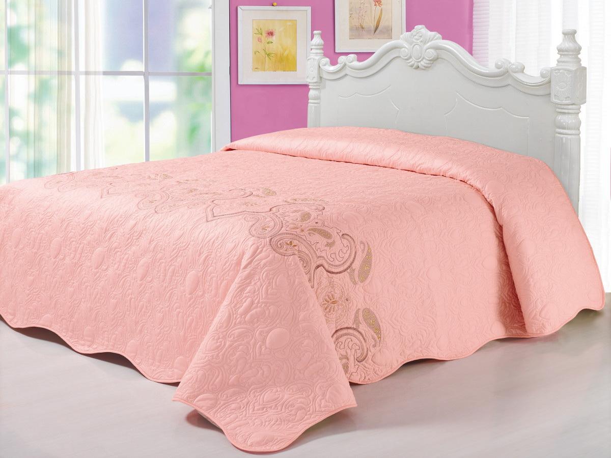 """Cleo Textile Покрывало """"Cleo"""", цвет: светло-розовый, 240 х 260 см 184/028-BS"""