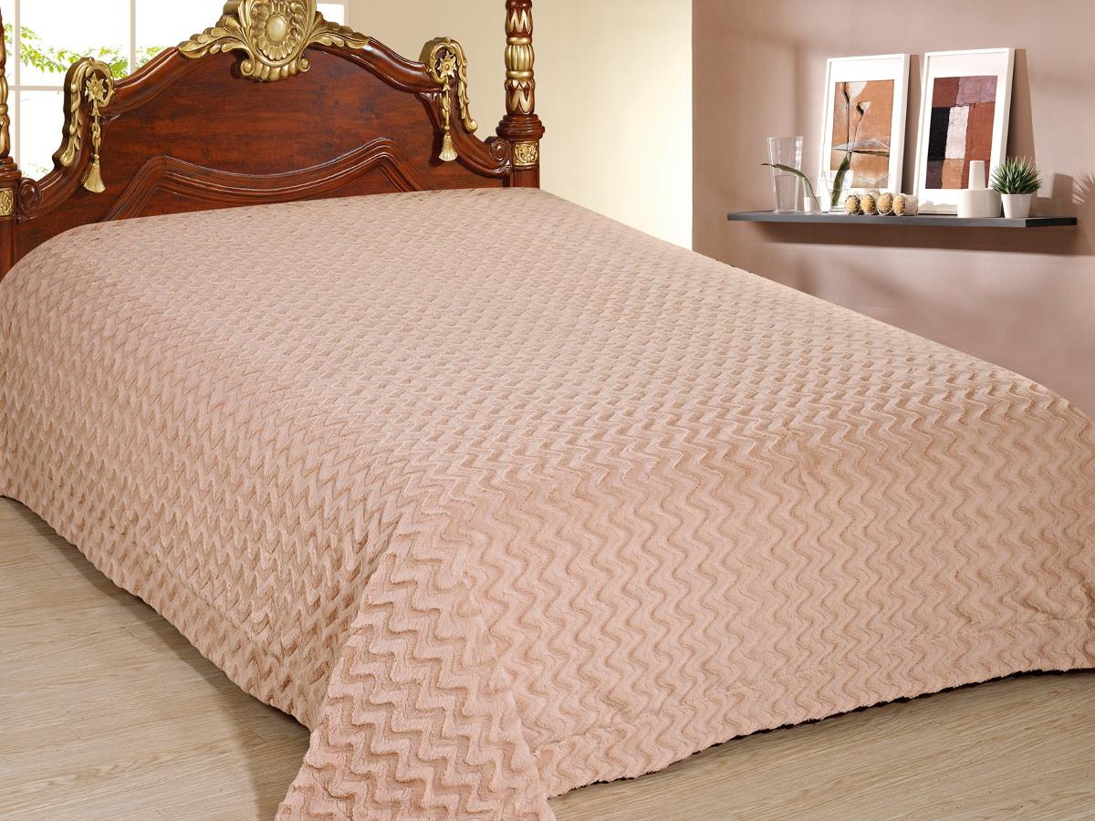 Покрывало Cleo Волна, цвет: бежевый, 220 x 240 см210/87-TZКрасивые, яркие, легкие и в меру объемные покрывала - они становятся настоящим украшением, завершающим штрихом интерьера, который преображает помещение, делая его уютным и комфортным. Состав этой коллекции - искусственный мех (акрил). Покрывало универсально в использовании. Такое покрывало прослужит много лет, радуя вас и ваших близких изначальной яркостью своих красок.