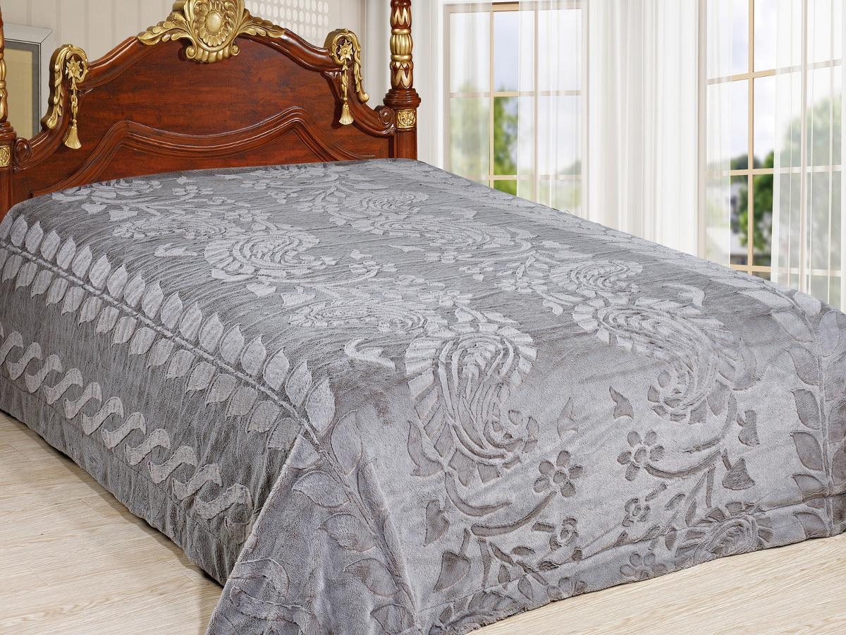 Покрывало Cleo Престиж, цвет: серый, 220 x 240 см210/94-TZКрасивые, яркие, легкие и в меру объемные покрывала - они становятся настоящим украшением, завершающим штрихом интерьера, который преображает помещение, делая его уютным и комфортным. Состав этой коллекции - искусственный мех (акрил). Покрывало универсально в использовании. Такое покрывало прослужит много лет, радуя вас и ваших близких изначальной яркостью своих красок.