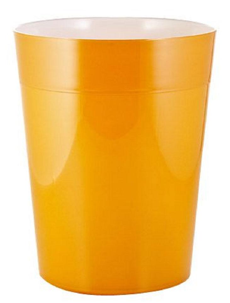 Ведро мусорное Ridder Neon, цвет: оранжевый, 5 л22020614Высококачественные немецкие аксессуары для ванных комнат. Данная серия изготавливается из акрилового стекла. Объем: 5 л.