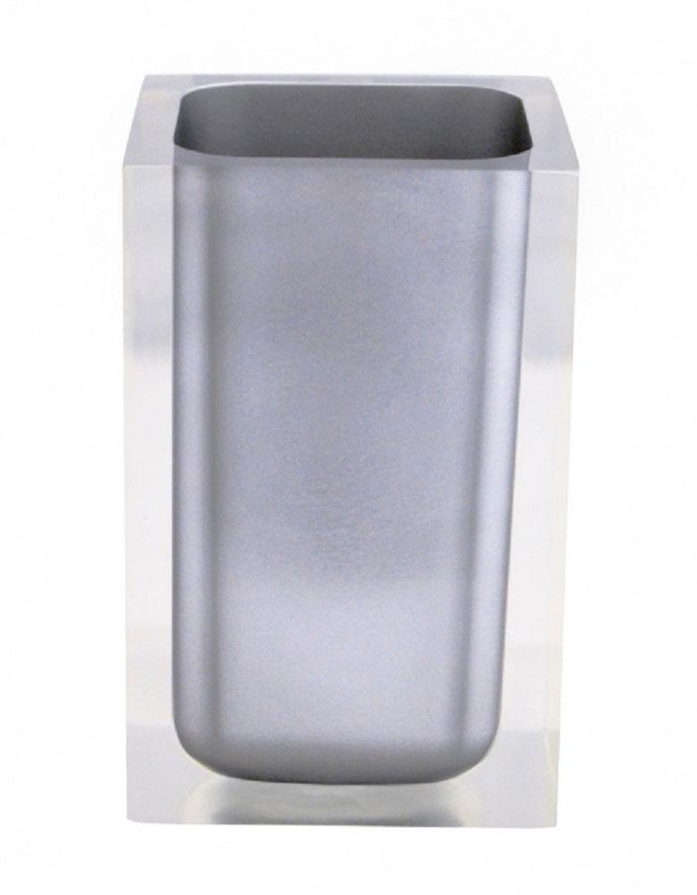 Стакан для ванной комнаты Ridder Colours, цвет: серый22280107Изделия данной серии устойчивы к ультрафиолету, т.к. изготавливаются из добротной полирезиры Экологичная полирезина — это твердый многокомпонентый материал на основе синтетической смолы, с добавлением каменной крошки и красящих пигментов