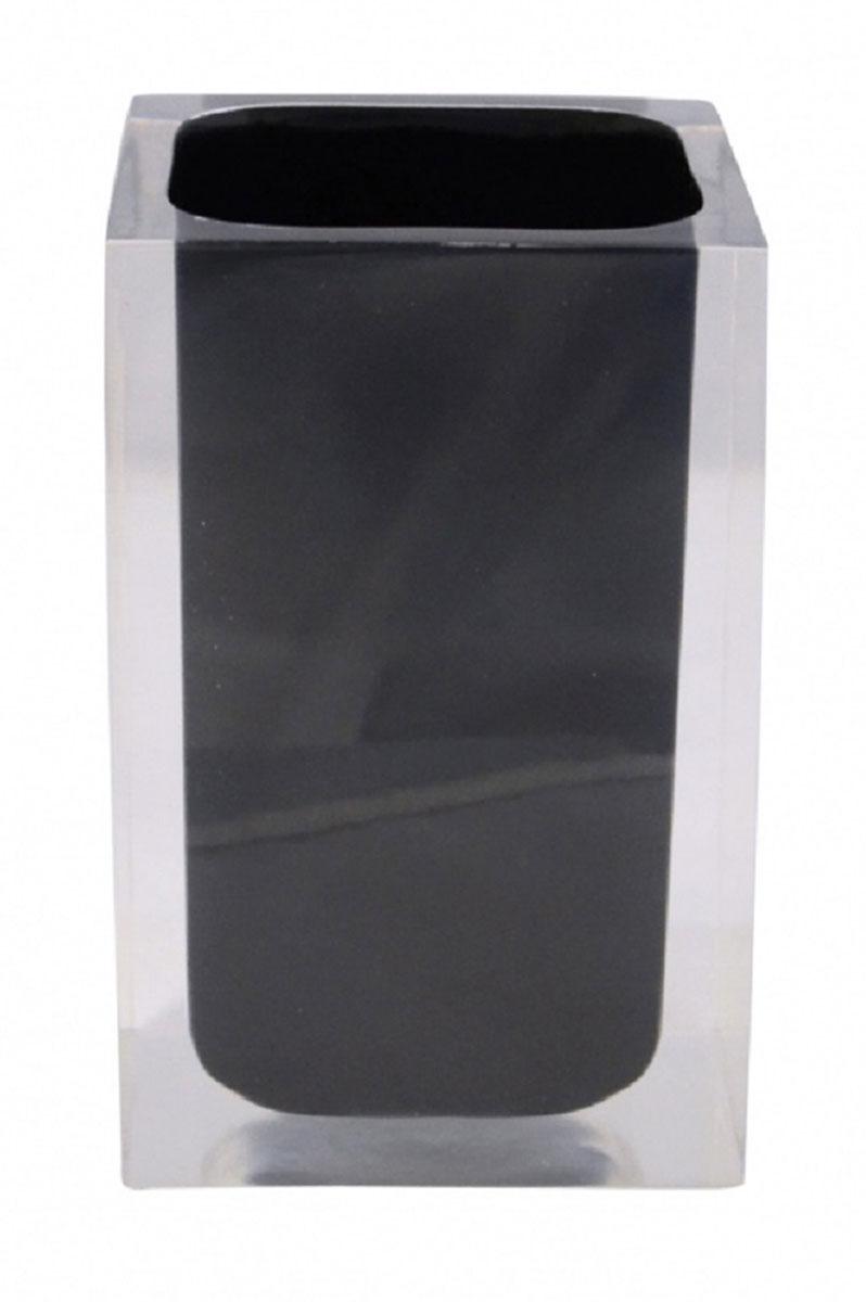 Стакан для ванной комнаты Ridder Colours, цвет: черный22280110Изделия данной серии устойчивы к ультрафиолету, т.к. изготавливаются из добротной полирезиры Экологичная полирезина — это твердый многокомпонентый материал на основе синтетической смолы, с добавлением каменной крошки и красящих пигментов