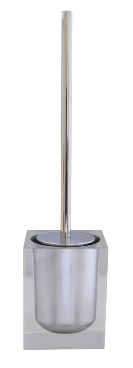 Ершик для унитаза Ridder Colours, с подставкой, цвет: серый22280407Ершик для унитаза Ridder Colours выполнен из нержавеющей стали и оснащен жестким ворсом. Подставка, выполненная из экологичной полирезины, с устойчивым основанием не позволяет ершику опрокинуться. Ершик отлично чистит поверхность, а грязь с него легко смывается водой. Стильный дизайн изделия притягивает взгляд и прекрасно подойдет к интерьеру туалетной комнаты.