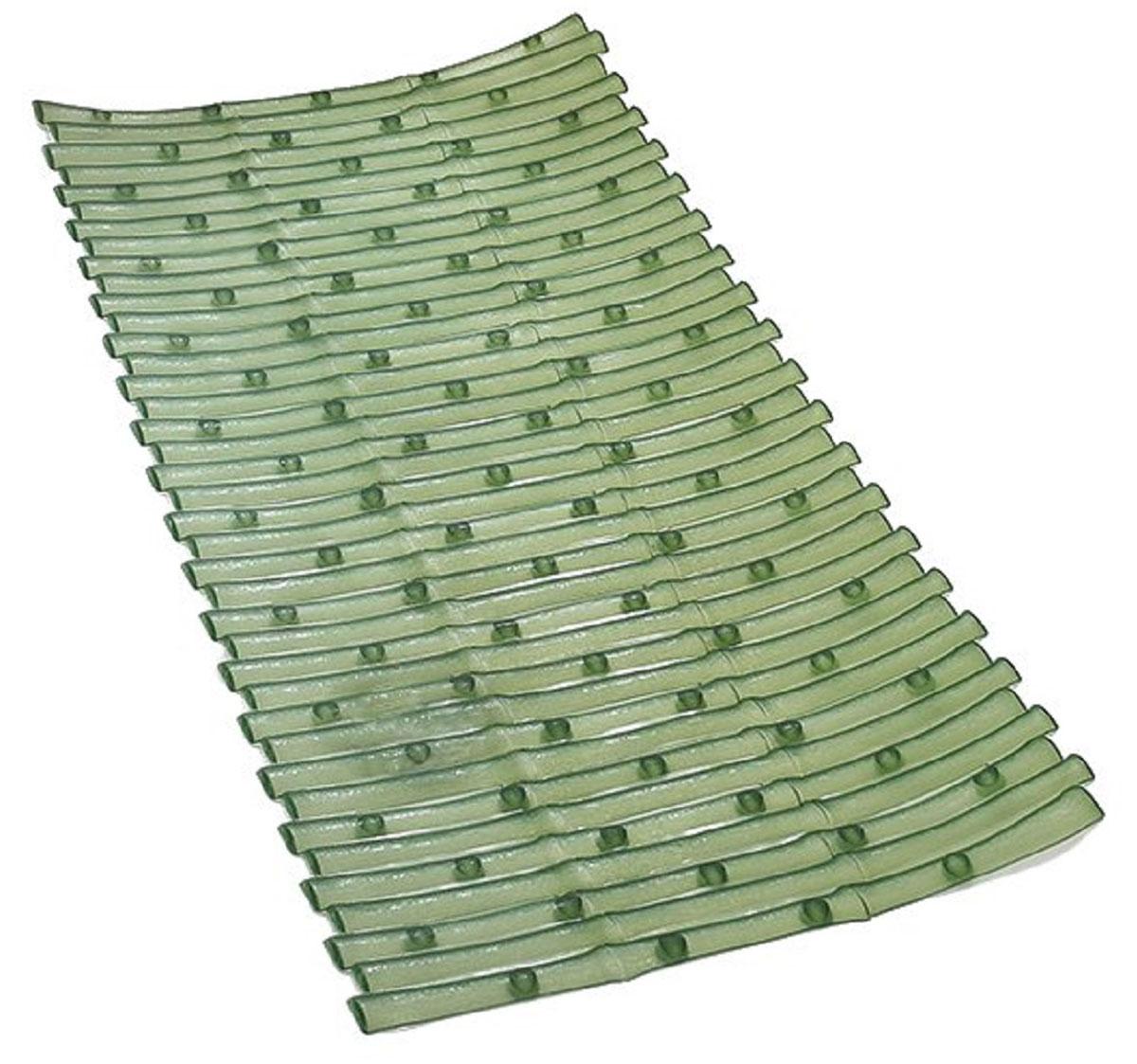 Коврик для ванной Ridder Bambus, противоскользящий, цвет: зеленый, 40 х 81 см61805Высококачественные немецкие коврики Bambus созданы для вашего удобства. Состав и свойства противоскользящих ковриков: ПВХ с защитой от плесени и грибка, Имеются присоски для крепления. Безопасность изделия соответствует стандартам LGA (Германия).