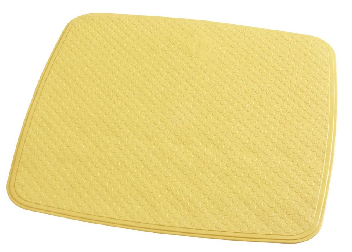 Коврик для ванной Ridder Capri, противоскользящий, на присосках, цвет: желтый, 54 х 54 см66284Коврик для ванной Ridder Capri, изготовленный из каучука с защитой от плесени и грибка, создает комфортное антискользящее покрытие в ванне. Крепится к поверхности при помощи присосок. Изделие удобно в использовании и легко моется теплой водой.
