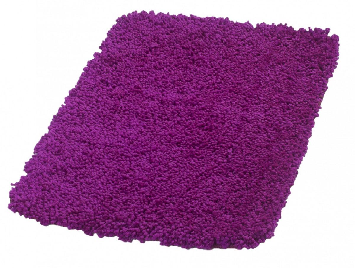 Коврик для ванной Ridder Softy, цвет: фиолетовый, 50 х 75 см745613Высота ворса - 40 мм. Подложка - латекс. Стирка при температуре 30°С.