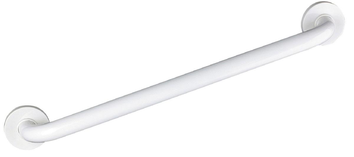 Поручень для ванной Ridder, цвет: белый, длина 60 см. А00160101А00160101Высококачественный немецкий поручень выполнен из алюминия. Закругленные края ручки и ее оптимальная длина сделаны для минимизации травмоопасности. Длина поручня - 60 см. Максимальная нагрузка на поручень - 110 кг. Комплект: 1 поручень 6 шурупов + дюбели 1 инструкция