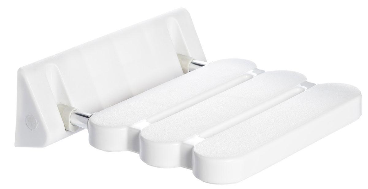 Сиденье в ванную Ridder, откидное, цвет: белый, хром. А0020011А0020011Высококачественное немецкое сиденье для ванны разработано и запатентовано компанией Ridder. Данное изделие имеет откидной механизм. Посадочная часть состоит из рифленых реек, не впитывающих влагу. Длина сидения - 310 мм. Глубина сидения - 230 мм. Максимальная нагрузка - 100 кг. Состав: каркас - алюминий, сиденье - пластик. В комплект входят саморезы+дюбели и инструкция.