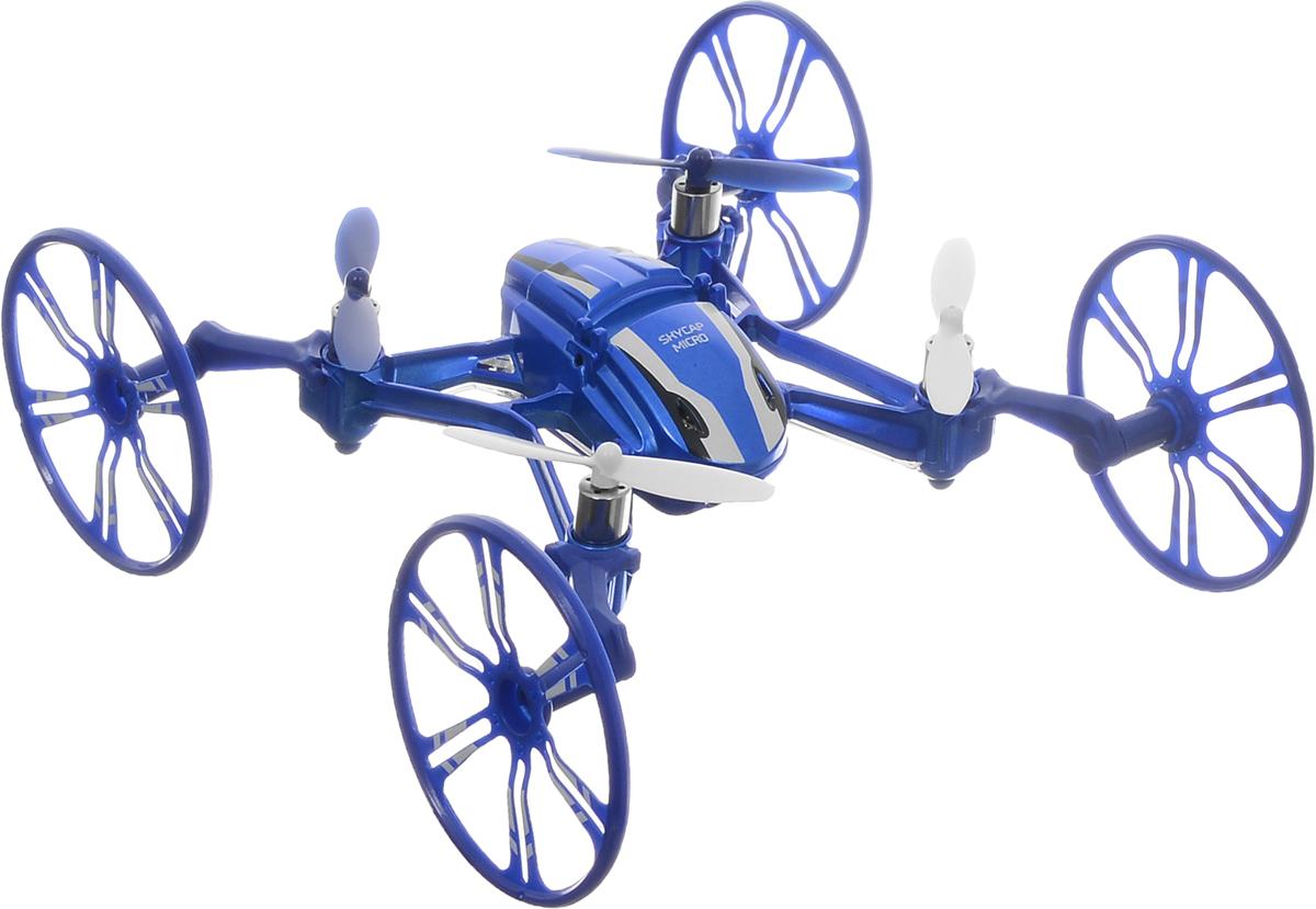 Pilotage Квадрокоптер на радиоуправлении Skycap micro RTF цвет синийRC18168Мини-квадрокоптер на радиоуправлении Pilotage Skycap micro RTF отлично подходит для полетов в закрытых помещениях и на улице. Эта миниатюрная модель поражает своей многогранной функциональностью. Благодаря встроенной шести осевой системе стабилизации этот мультикоптер великолепно летает. Благодаря трем полетным режимам, которые выбираются в передатчике, модель отлично подходит для новичков и для опытных пилотов. Вы сможете демонстрировать свое мастерство, выполняя в полете кульбиты на 360 градусов. Квадрокоптер - трансформер Skycap micro может не только летать и кувыркаться. Если вы установите на модель 2 больших колеса, аппарат сможет ездить по стенке и даже по потолку, а это так необычно и увлекательно! Надоело летать? Нет проблем, прикрепите на каждый луч квадрокоптера по небольшому колесу и можете гонять по паркету или асфальту, и банально перелетайте через препятствия, для этого варианта модели не существует преград. Все ваши приключения вы можете...