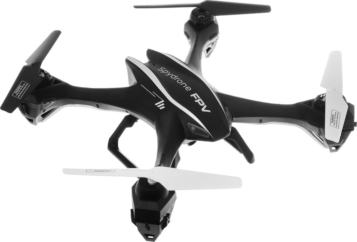 Pilotage Квадрокоптер на радиоуправлении Spydrone FPV RTFRC39923Квадрокоптер на радиоуправлении Spydrone FPV RTF - это очень простой в управлении, и в то же время проворный и быстрый аппарат, который способен летать как в помещении, так и на улице. Конструкция модели очень прочная и лёгкая, пропеллеры оснащены специальной защитой, а на корпусе аппарата имеются яркие светодиоды. Spydrone FPV RTF оборудован HD камерой и создан для того, чтобы вы могли испытать восторг и удовольствие от полетов по FPV ( вид от первого лица). С этим аппаратом вы будете чувствовать себя, как будто вы летаете, находясь на борту модели. Камера снимает видео с разрешением 1280 х 720p, и в режиме реального времени транслирует его на экран передатчика. Отснятые файлы камера сохраняет на съемной Микро-SD (TF) карте, объема которой достаточно для нескольких полетов. Пульт управления имеет ЖК экран, размером 4.3 дюйма, работает от LiPo аккумулятора 3.7V 450mAh, принимает видео в режиме реального времени и позволяет на модели не просто размеренно и...