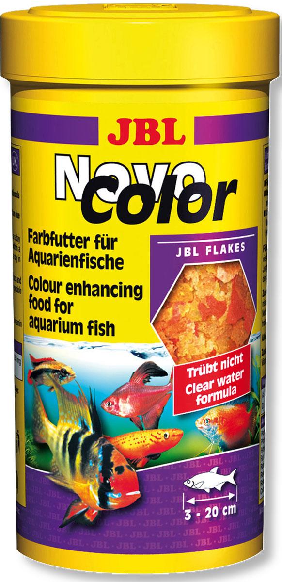 JBL NovoColor Основной корм в форме хлопьев для особенно яркой окраски рыб, 250 млJBL3015700JBL NovoColor - Основной корм в форме хлопьев для особенно яркой окраски рыб, 250 мл.