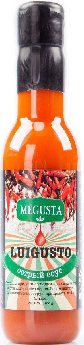 Megusta Luigusto соус острый перцовый, 200 г4680008982353Легендарный перечный соус Луизианна отлично сочетается с любым блюдом, идеально дополнит коллекцию острых соусов для любого перцееда и любителя супер-жгучих перечных смесей. Изготовлен по рецептуре традиционного луизианского острого соуса из оригинальных кайенских перцев. Производители ТМ «MEGUSTA», купили натуральные ингредиенты в Коста-Рике у поставщика KAMUK www.kamukcr.com, далее, по секретной рецептуре завода KAMUK изготовили продукцию, разлили в тару на территории России и в итоге получился узнаваемый, натуральный, премиальный продукт, вкус которого знает весь мир.
