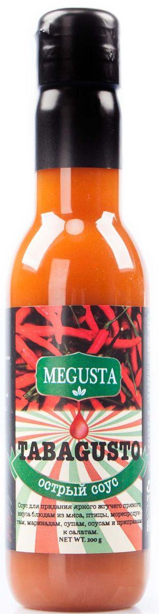 Megusta Tabagusto cоус острый перцовый, 200 г4680008982377Соус для придания блюдам яркого жгучего приятного вкуса блюдам из мяса, птицы, морепродуктам, маринадам, скпам, соусам и приправам к салатам. Производители ТМ «MEGUSTA», купили натуральные ингредиенты в Коста-Рике у поставщика KAMUK www.kamukcr.com, далее, по секретной рецептуре завода KAMUK изготовили продукцию, разлили в тару на территории России и в итоге получился узнаваемый, натуральный, премиальный продукт, вкус которого знает весь мир.