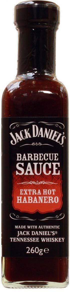 Jack Daniels соус для барбекю экстра острым перцем хабанеро, 260 г5012427031906JackDaniels Extra Hot Habanero - новый восхитительный соус в линейке производителя. Этот дымный соус барбекю с острым перцем хабанеро сделанный из натурального JackDaniels Tennessee Whiskey, по исключительному рецепту специально дополнен хабанеро перчиком, для создания дымного аромата с огненно-горячим вкусом. Добавит вкуса Вашим любимым блюдам. Рекомендуется к фахитос или жареной курице.