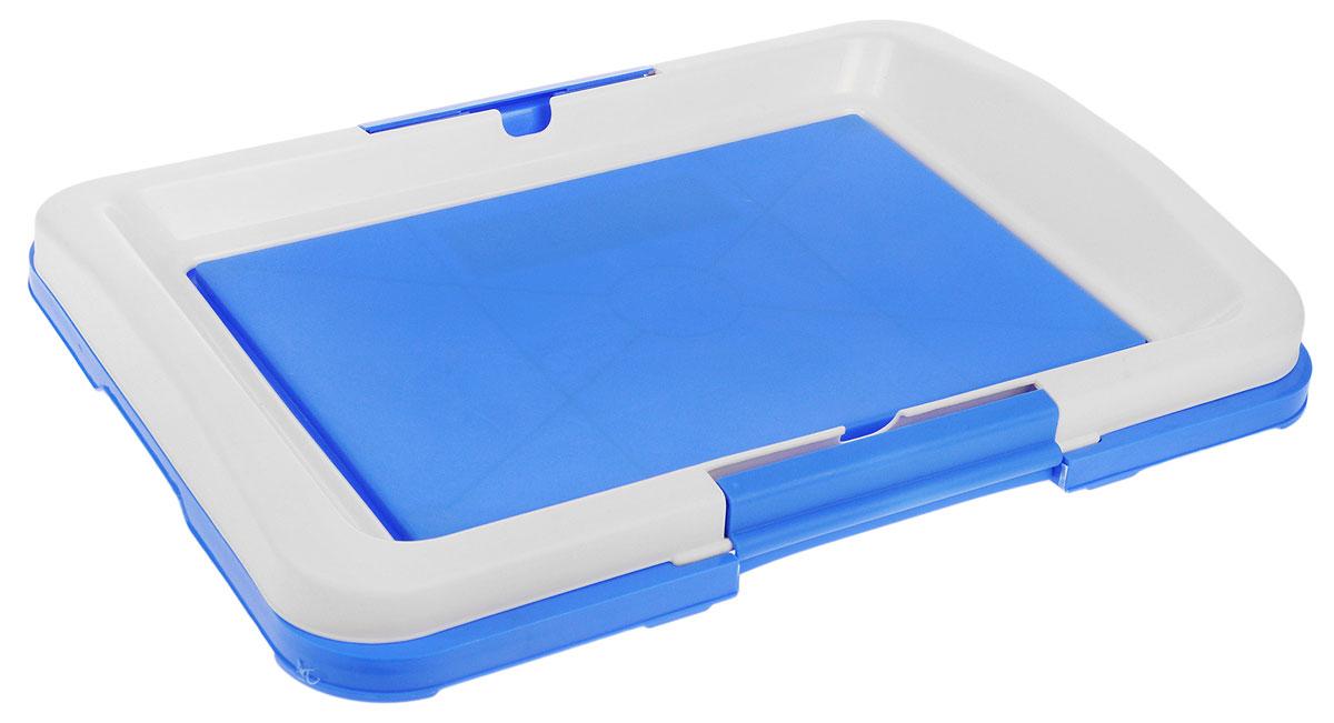 Туалет для собак V.I.Pet Японский стиль, цвет: синий, молочный, 48 х 35 х 5 смP102-05Туалет для собак V.I.Pet Японский стиль, изготовленный из нетоксичного пластика, предназначен для собак и щенков. Гигиеническая пеленка помещается под решетку, которая удерживается боковыми фиксаторами. Туалет легко моется водой. Уважаемые клиенты! Рекомендуется использовать с пеленкой V.I.Pet 40 см х 60 см. Гигиеническая пеленка в комплект не входит.