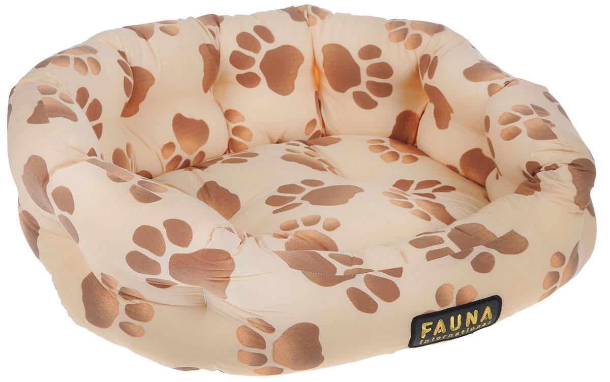 Лежак для животных FAUNA Fantasia, цвет: бежевый, коричневый, 62 х 50 х 15FIDB-0113Уютный лежак для животных FAUNA Fantasia обязательно понравится вашему питомцу. В нем питомец будет счастлив, так как лежак очень мягкий и приятный. Он будет проводить все свое свободное время в нем, отдыхать, наслаждаясь удобством. Лежак выполнен из хлопка, также имеется подушка, которая легко вынимается и ее можно использовать отдельно.