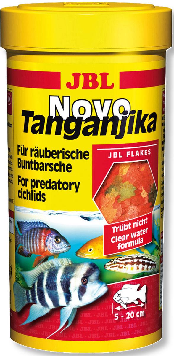 JBL NovoTanganjika Корм в форме хлопьев из рыбы и планктонных животных для хищных цихлид из озер Малави и Таньгаика, 1 л (172 г)JBL3002100JBL NovoTanganjika - Корм в форме хлопьев из рыбы и планктонных животных для хищных цихлид из озер Малави и Таньгаика, 1 л. (172 г.)