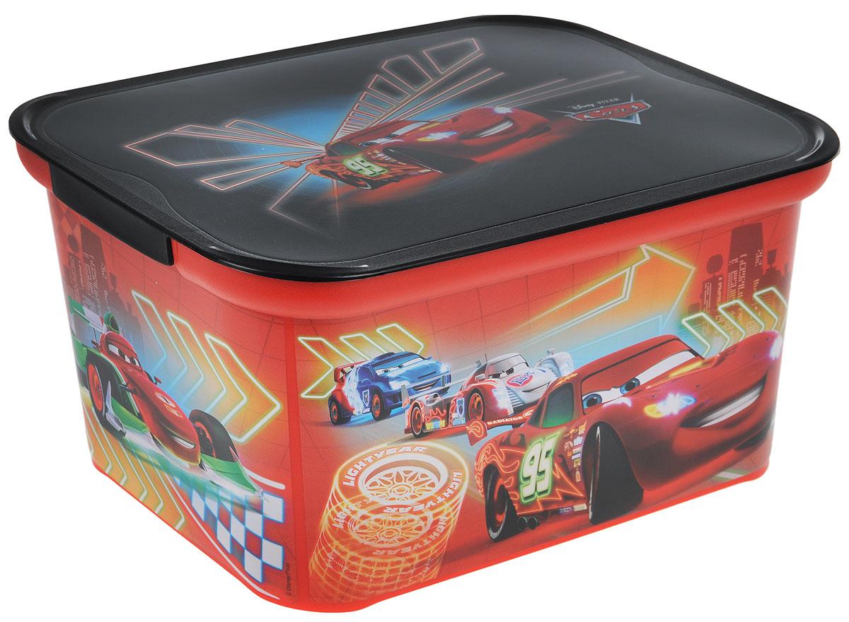 Коробка для хранения Curver Amsterdam S, цвет: красный, черный, 29 х 20,5 х 14,2 см4729_Cars neonКоробка для хранения Curver Amsterdam S - это вместительная коробка для игрушек и других мелочей малыша с изображением героев мультфильма Тачки. Коробка поможет организовать и украсить детскую комнату. Накладываемая крышка прикроет содержимое контейнера и позволит сэкономить место. Размеры коробки: 29 х 20,5 х 14,2 см.