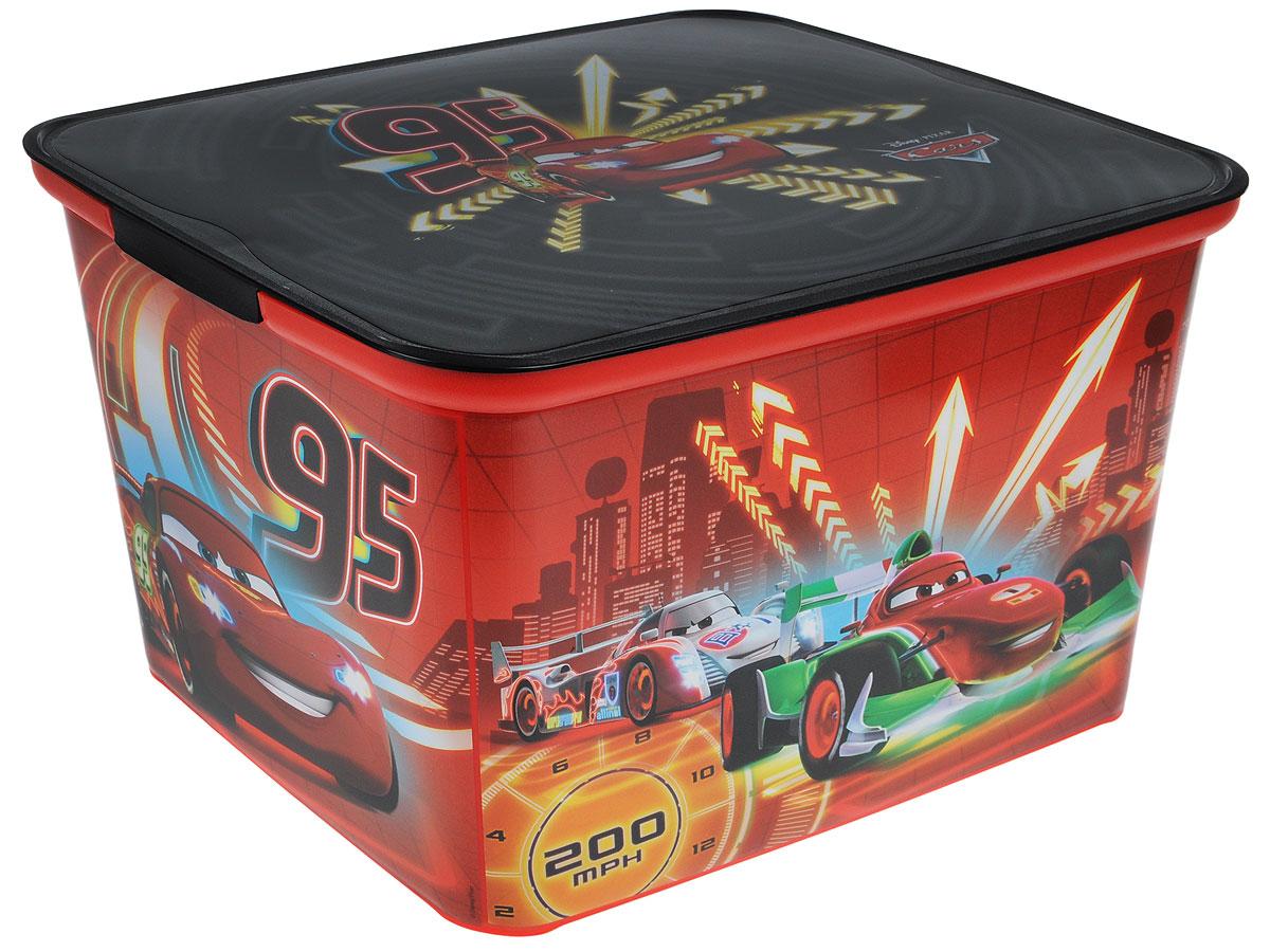 Коробка для хранения Curver Amsterdam L, цвет: красный, черный, 39 х 30 х 24 см4730_Cars neonКоробка для хранения Curver Amsterdam L - это вместительная коробка для игрушек и других мелочей малыша с изображением героев мультфильма Тачки. Коробка поможет организовать и украсить детскую комнату. Накладываемая крышка прикроет содержимое контейнера и позволит сэкономить место. Размеры коробки: 39 х 30 х 24 см.