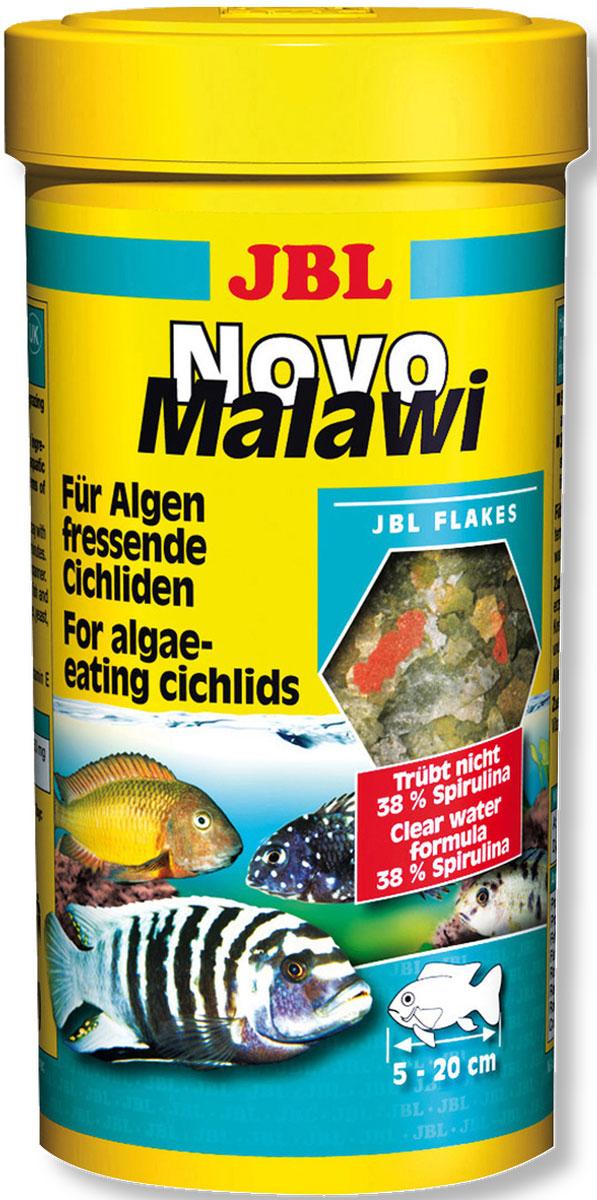 JBL NovoMalawi Корм в форме хлопьев для растительноядных цихлид из озер Малави и Таньгаика, 250 мл (38 г)JBL3001000JBL NovoMalawi - Корм в форме хлопьев для растительноядных цихлид из озер Малави и Таньгаика, 250 мл. (38 г.)