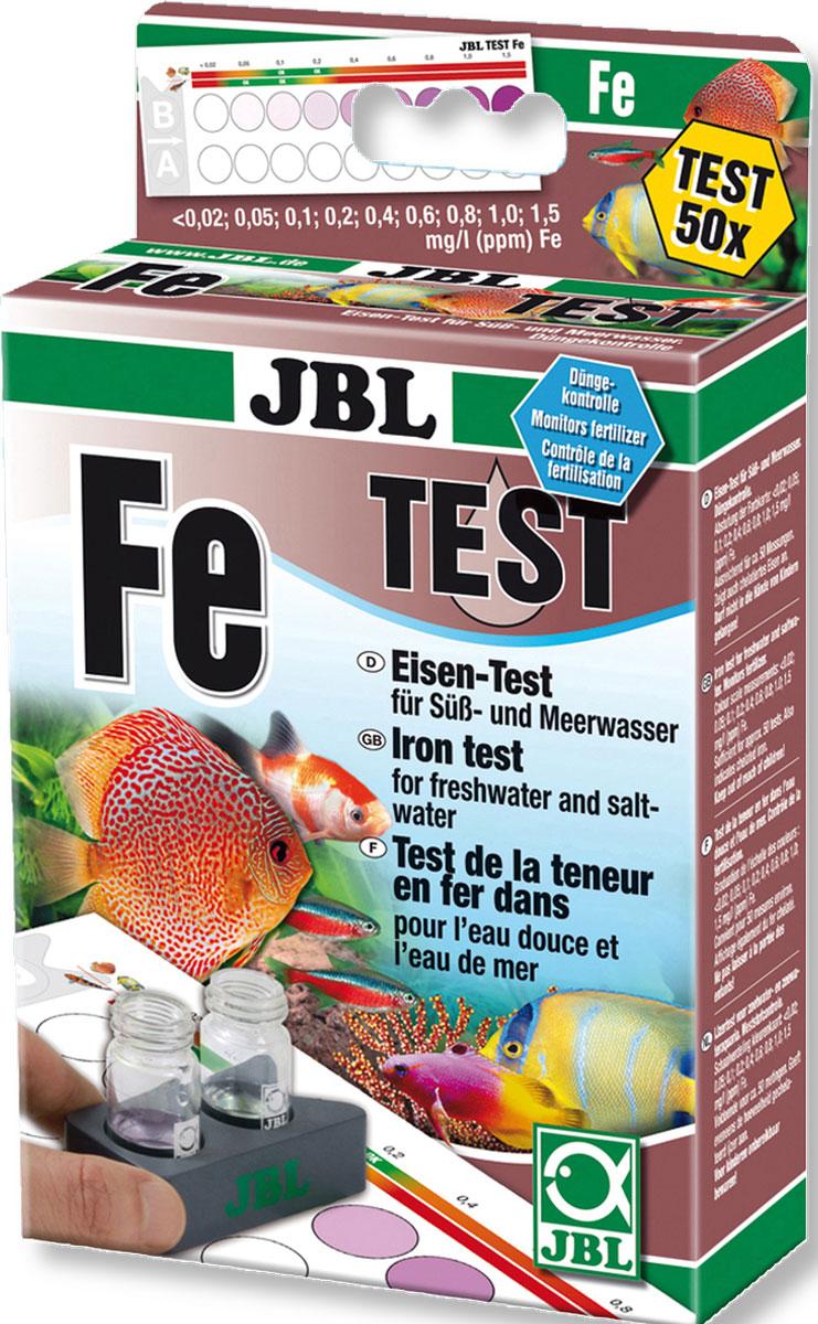 Тест JBL Eisen Test-Set Fe для определения содержания железа в пресной и морской воде на 80 измеренийJBL2539000JBL Eisen Test-Set Fe - Тест для определения содержания железа в пресной и морской воде на 80 измерений