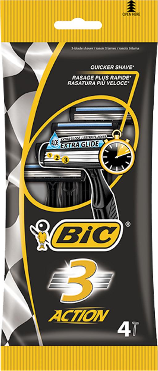 Bic Бритва Bic3 Экшен, уп.4 шт экшен камера