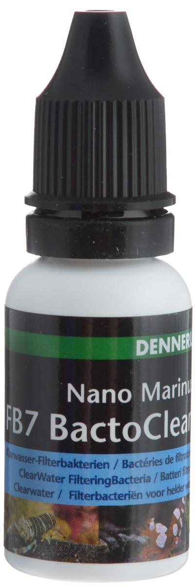 Бактерии Dennerle Nano Marinus FB7 BactoClean, очищающие воду, фильтрующие, 15 млDEN5636Dennerle Nano Marinus FB7 BactoClean - это живые чистящие бактерии для прозрачной здоровой воды. Бактерии расщепляют продукты жизнедеятельности, остатки корма и отмершие части растений. Нейтрализуют ядовитые вещества, такие как аммиак и нитриты. Активируют грунт и фильтр, улучшают производительность фильтра. Одна бутылочка (15 мл) рассчитана на 600 л аквариумной воды.