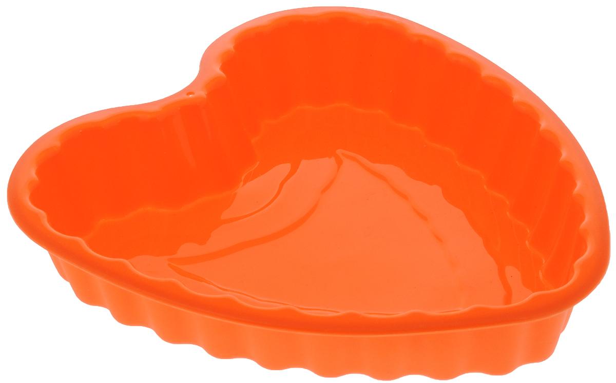 Форма для выпечки Mayer & Boch Сердце силиконовая, цвет: оранжевый, 22 х 19 х 3 см21966Форма для выпечки Mayer & Boch Сердце изготовлена из высококачественного силикона в виде сердца. Стенки формы легко гнутся, что позволяет легко достать готовую выпечку и сохранить аккуратный внешний вид блюда. Силикон - материал, который выдерживает температуру от -40°С до +230°С. Изделия из силикона очень удобны в использовании: пища в них не пригорает и не прилипает к стенкам, форма легко моется. Приготовленное блюдо можно очень просто вытащить, просто перевернув форму, при этом внешний вид блюда не нарушится. Изделие обладает эластичными свойствами: складывается без изломов, восстанавливает свою первоначальную форму. Порадуйте своих родных и близких любимой выпечкой в необычном исполнении.