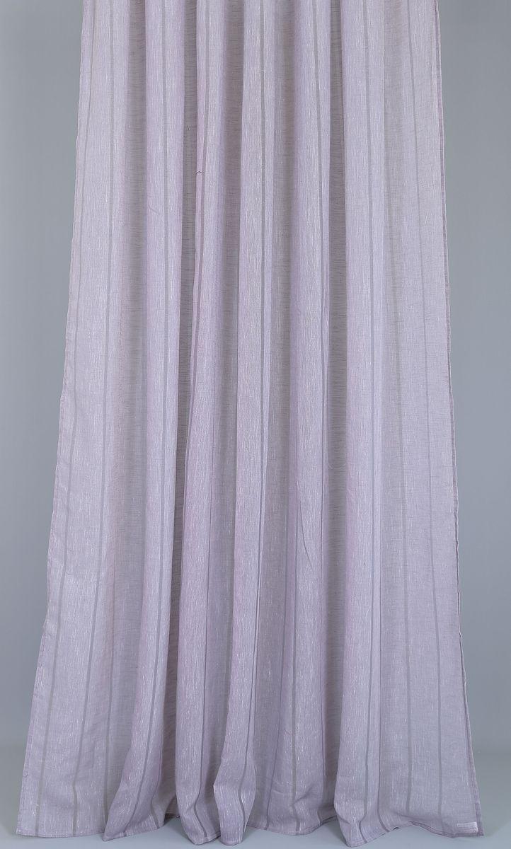 Тюль Garden Линиа, на ленте, цвет: сиреневый, высота 260 см81998_ЛЕНТАТюль Garden изготовлен из 100% полиэстера. Оригинальная ткань привлечет к себе внимание и идеально оформит интерьер любого помещения. Полиэстер - вид ткани, состоящий из полиэфирных волокон. Ткани из полиэстера легкие, прочные и износостойкие. Такие изделия не требуют специального ухода, не пылятся и почти не мнутся. Крепление к карнизу осуществляется при помощи вшитой шторной ленты.