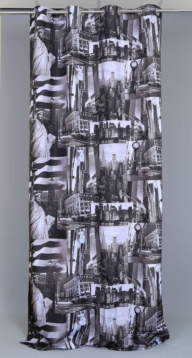 Штора Garden Фотопринт. Нью-Йорк Патч, на люверсах, высота 280 см60160_ЛЮВЕРСЫРоскошная штора Garden Фотопринт. Нью-Йорк Патч выполнена из 100% полиэстера и украшена городским принтом. Оригинальная текстура ткани и изящный дизайн привлекут к себе внимание и позволят шторе органично вписаться в интерьер помещения. Эта штора будет долгое время радовать вас и вашу семью! Штора крепится при помощи люверсов. Диаметр люверсов: 4 см.