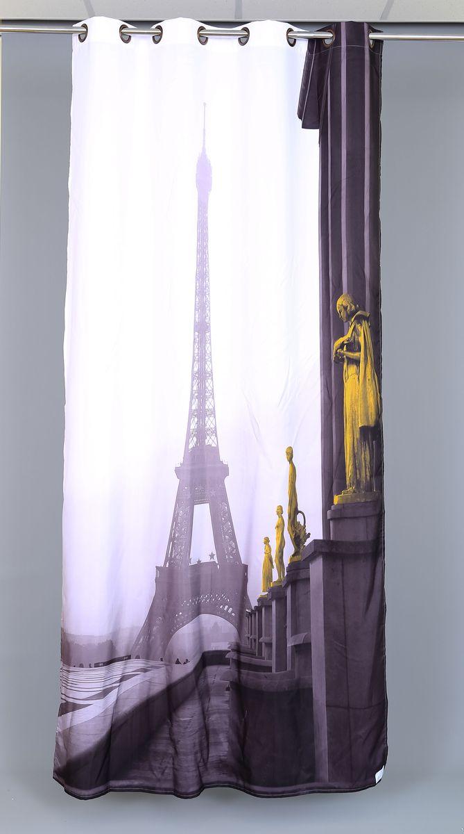 Штора Garden Фотопринт. Париж, на люверсах, высота 260 см53582_ЛЮВЕРСЫРоскошная штора Garden Фотопринт. Париж выполнена из 100% полиэстера и украшена городским принтом. Оригинальная текстура ткани и изящный дизайн привлекут к себе внимание и позволят шторе органично вписаться в интерьер помещения. Эта штора будет долгое время радовать вас и вашу семью! Штора крепится при помощи люверсов. Диаметр люверсов: 4 см.
