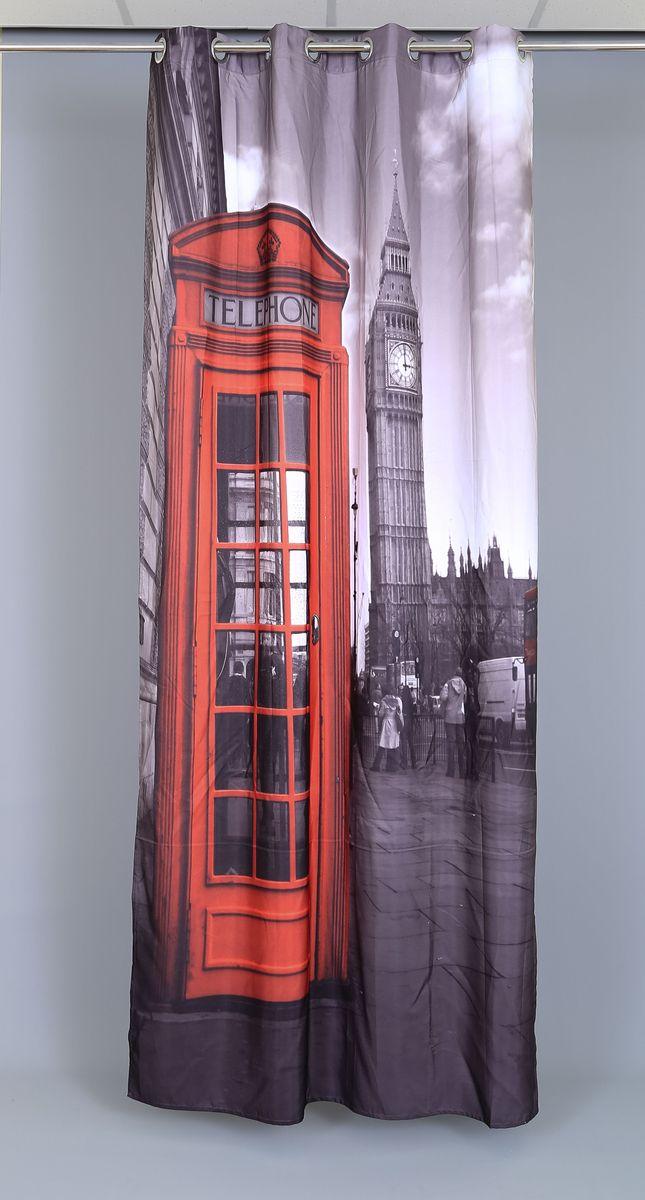 Штора Garden Фотопринт. Лондон лайт, на люверсах, высота 240 см48557_ЛЮВЕРСЫРоскошная штора Garden Фотопринт. Лондон лайт выполнена из 100% полиэстера и украшена городским принтом. Оригинальная текстура ткани и изящный дизайн привлекут к себе внимание и позволят шторе органично вписаться в интерьер помещения. Эта штора будет долгое время радовать вас и вашу семью! Штора крепится при помощи люверсов. Диаметр люверсов: 4 см.