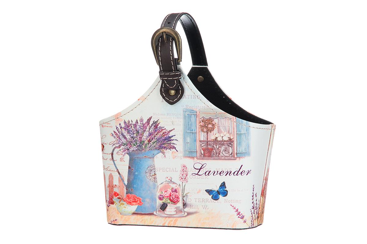 Сумка для хранения El Casa Лаванда, 21 х 12 х 24 см171481Интерьерная сумка El Casa Лаванда, выполненная в винтажном стиле, будто специально предназначена для хранения любовных писем и любых других дорогих сердцу вещей. Благодаря регулируемой длине ручки, прекрасному дизайну и необычной форме, такая сумка будет отлично смотреться в вашей гостиной или коридоре. Сумка El Casa Лаванда станет отличным подарком для ваших друзей и близких.