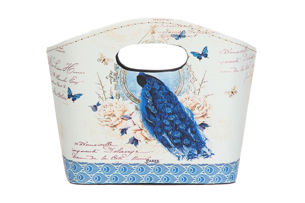 Сумка для хранения El Casa Павлин и бабочки в цветах, 20 х 11 х 16 см171499Интерьерная сумка El Casa Павлин и бабочки в цветах, выполненная в винтажном стиле, будто специально предназначена для хранения любовных писем и любых других дорогих сердцу вещей. Благодаря прекрасному дизайну и необычной форме будет отлично смотреться в вашей гостиной или коридоре. Сумка El Casa Павлин и бабочки в цветах станет отличным подарком для ваших друзей и близких.