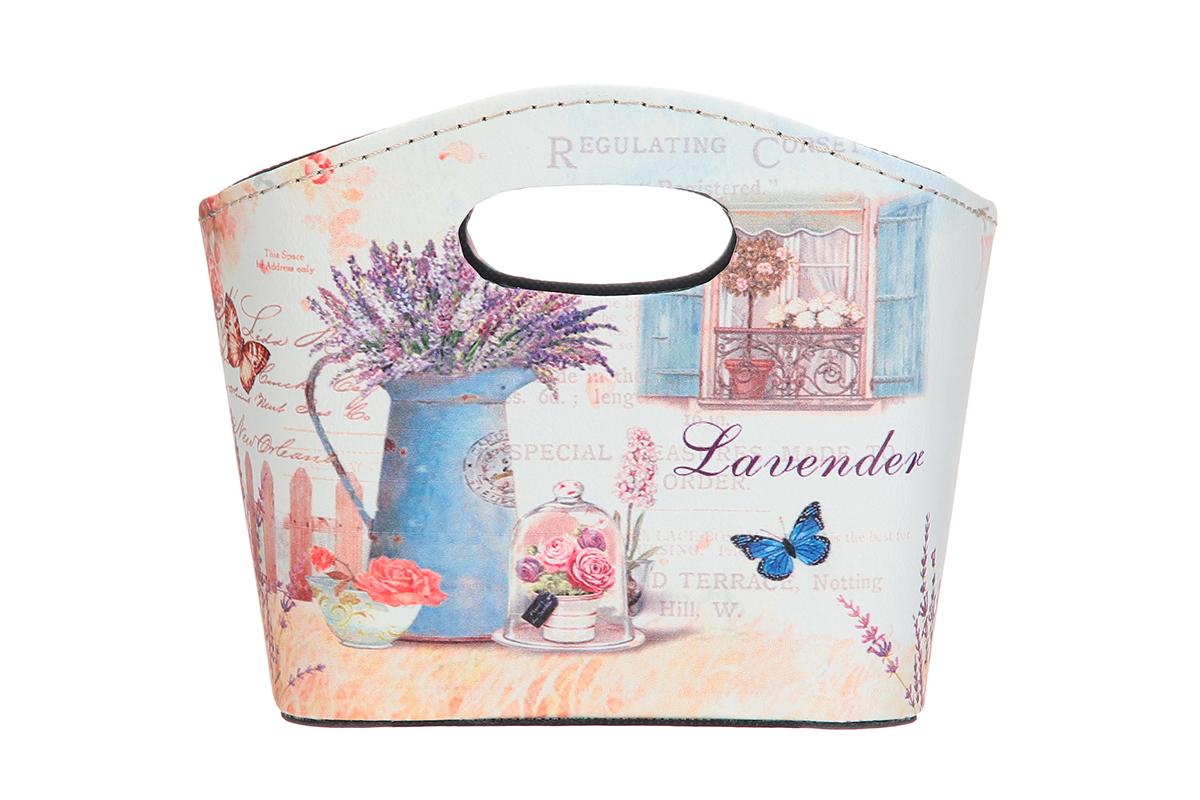 Сумка для хранения El Casa Лаванда, 20 х 11 х 16 см171501Интерьерная сумка El Casa Лаванда, выполненная в винтажном стиле, будто специально предназначена для хранения любовных писем и любых других дорогих сердцу вещей. Благодаря прекрасному дизайну и необычной форме будет отлично смотреться в вашей гостиной или коридоре. Сумка El Casa Лаванда станет отличным подарком для ваших друзей и близких.
