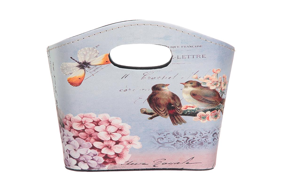 Сумка для хранения El Casa Сирень и птички, 20 х 11 х 16 см171504Интерьерная сумка El Casa Сирень и птички, выполненная в винтажном стиле, будто специально предназначена для хранения любовных писем и любых других дорогих сердцу вещей. Благодаря прекрасному дизайну и необычной форме будет отлично смотреться в вашей гостиной или коридоре. Сумка El Casa Сирень и птички станет отличным подарком для ваших друзей и близких.